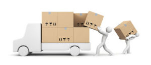 people-unload-car-transportation-shipping-separated-white-37283884