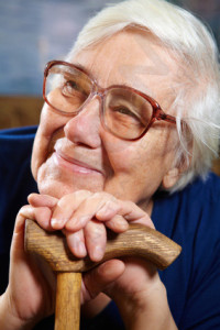 Senior woman with glasses portrait