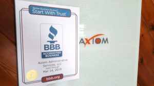 Axiom BBB accreditation